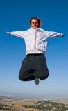 Un uomo nella caduta libera Fotografia Stock