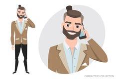 Un uomo sta parlando sul telefono Fotografia Stock Libera da Diritti