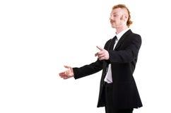 Un uomo in un vestito isolato su bianco Immagine Stock Libera da Diritti