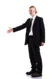 Un uomo in un vestito isolato su bianco Immagine Stock