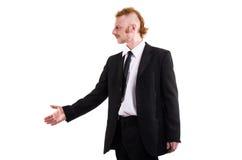 Un uomo in un vestito isolato su bianco Immagini Stock