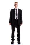 Un uomo in un vestito isolato su bianco Fotografie Stock Libere da Diritti