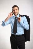 Un uomo vestito in camicia Fotografie Stock Libere da Diritti