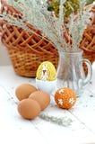 Un uovo di Pasqua Handmade Immagini Stock