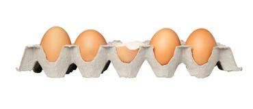 Un uovo incrinato Fotografia Stock