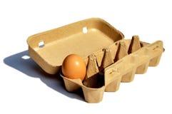 Un uovo nel pacchetto Fotografia Stock Libera da Diritti