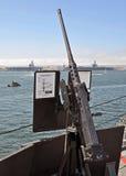 UN USN Mitrailleuse lourde de 50 calibres Photographie stock libre de droits
