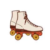 Un utilisé généralement classique de patin de rouleau et populaire pendant les années 70 et Photo libre de droits