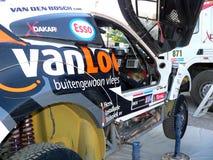 Un véhicule de Dakar de rassemblement Images libres de droits