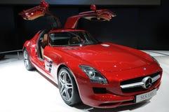 Un véhicule de Mercedes-Benz SLS AMG Image libre de droits