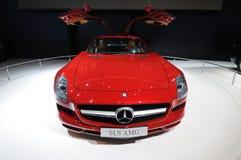 Un véhicule de Mercedes-Benz SLS AMG Photos libres de droits