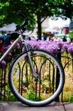 Un vélo au printemps image libre de droits