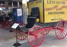 Un vagone del ` s del fotografo a Texas Cowboy Hall di fama Immagini Stock Libere da Diritti