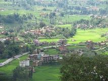 Un valle cerca de Kathmamdu, Nepal fotos de archivo libres de regalías
