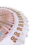 Un valore ucraino dei soldi di 50 grivnas Fotografie Stock