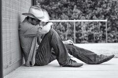 Un vaquero de sexo masculino joven Imagen de archivo