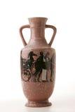 Un vase en céramique aiment l'amphora du grec ancien Photographie stock