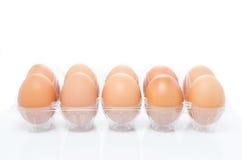 Un vassoio di pacchetto della plastica delle uova Immagini Stock Libere da Diritti
