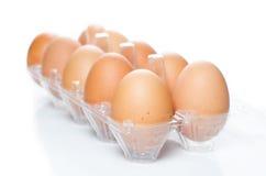 Un vassoio di pacchetto della plastica delle uova Immagine Stock Libera da Diritti