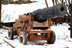 Un vecchio cannone alla fortezza di Korela Fotografia Stock