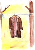 Un vecchio cappotto Fotografia Stock