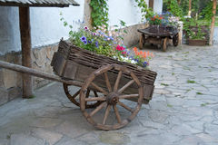 Un vecchio carrello Immagini Stock