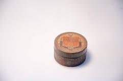 Un vecchio caso d'acciaio rotondo Fotografia Stock Libera da Diritti