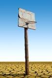 Un vecchio cerchio di pallacanestro Fotografia Stock Libera da Diritti