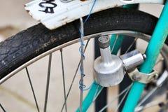 Un vecchio dettaglio della bici Fotografie Stock