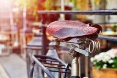 Un vecchio dettaglio della bici Fotografia Stock Libera da Diritti