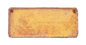 Un vecchio di piastra metallica in bianco arrugginito Immagine Stock Libera da Diritti
