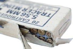 Pacchetto delle cartucce del fucile Fotografia Stock