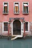 Un vecchio hotel veneziano Fotografia Stock