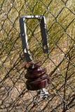 Un vecchio isolante marrone del telefono Fotografie Stock Libere da Diritti