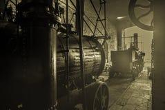 Un vecchio motore a vapore Fotografie Stock Libere da Diritti