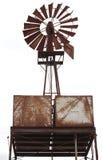 Un vecchio mulino a vento arrugginito Fotografia Stock Libera da Diritti