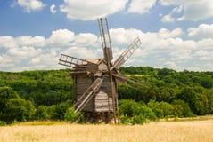 Un vecchio mulino a vento, Pyrohiv, Ucraina Fotografia Stock Libera da Diritti