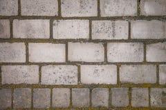 Un vecchio muro di mattoni ammuffito Mattone bianco Il fuoco nella fornace Fondo fotografia stock libera da diritti