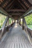 Un vecchio ponte di legno nella vecchia città di Norimberga, Germania fotografia stock libera da diritti