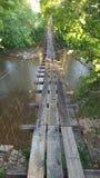 Un vecchio ponte di oscillazione del Kentucky Fotografie Stock