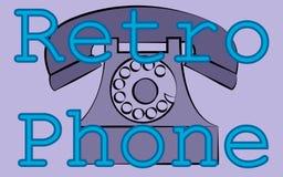 Un vecchio retro disco d'annata dell'oggetto d'antiquariato dei pantaloni a vita bassa ha fissato il telefono fisso e un'iscrizio illustrazione di stock