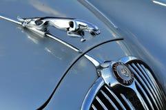 Un vecchio simbolo dell'automobile del giaguaro Fotografia Stock Libera da Diritti