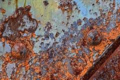 Un vecchio strato arrugginito del ferro Fotografia Stock Libera da Diritti