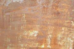 Un vecchio strato dipinto di metallo arrugginito Priorità bassa astratta dell'annata Fotografie Stock