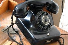 Un vecchio telefono Fotografie Stock Libere da Diritti