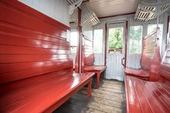 Un vecchio treno fotografia stock