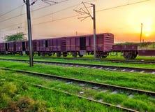 Un vecchio treno Fotografie Stock Libere da Diritti