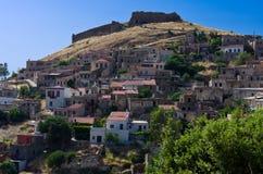 Un vecchio villaggio in Grecia fotografia stock