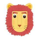 Un vecteur est bande dessinée mignonne de lion Image libre de droits