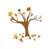 Un vector abstracto del árbol del otoño Imagen de archivo